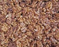 Peeled walnuts closeup Stock Photos