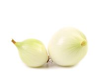 Peeled white onions Royalty Free Stock Photos