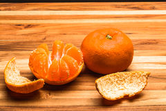 Peeled and Whole Tangerine Stock Photos