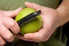 Peeling an Apple Stock Photo