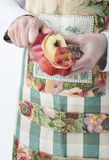 Peeling an apple Stock Photos