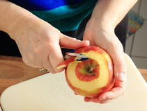 Peeling an Apple Stock Image