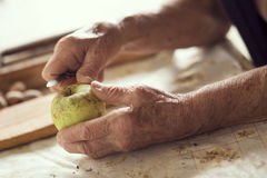 Peeling an apple Stock Image