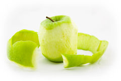 Peeling an apple Royalty Free Stock Photos