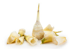 Peeling bamboo shoots Royalty Free Stock Photos