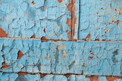 Peeling blue paint pattern Royalty Free Stock Photos