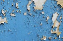Peeling Blue Paint Stock Image