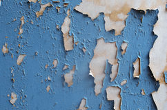 Peeling Blue Paint Royalty Free Stock Images