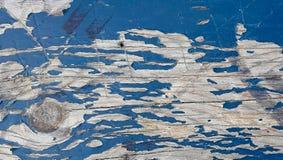 Peeling blue paint on wood Stock Image