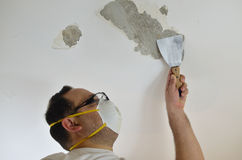 Peeling a Ceiling Stock Photo