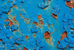 Peeling cracked  rusty paint Stock Photo