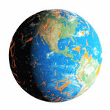 Peeling and Cracking Earth. Earth with outer layer peeling and cracking like old paint Royalty Free Stock Photography