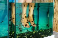 Peeling feet fish. Royalty Free Stock Photo