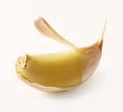 Peeling Garlic Royalty Free Stock Photo