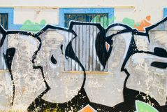Peeling Graffiti Stock Photography