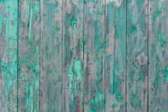 Peeling green paint on wooden background, old rustic wooden panels, texture background royalty free stock photos