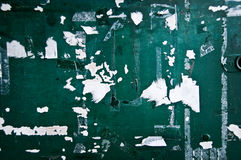 Peeling green painted wall royalty free stock photos