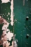 Peeling green painted wall royalty free stock photo