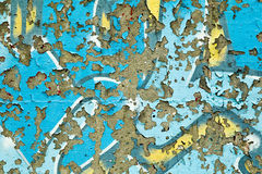 Peeling grungy graffiti Stock Images