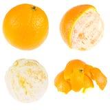 Peeling an orange Stock Image