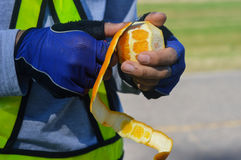 Peeling orange Royalty Free Stock Photography