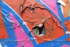 peeling paint 10 Royalty Free Stock Image