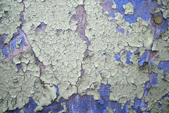 Peeling paint. Peeling white blue old paint Royalty Free Stock Photo