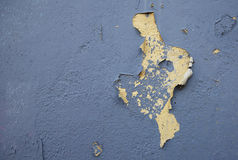 Peeling paint. On an old  house Stock Image