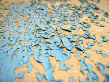 Peeling paint. On an old house stock images