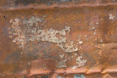 Peeling Paint And Rusty Old Metal Texture Stock Photography