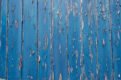 Peeling Paint On Blue Wooden Door Stock Photo