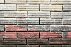Peeling paint brick wall texture background Stock Photos