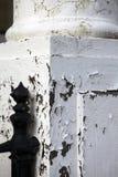 Peeling paint coloumn disrepair Stock Photos