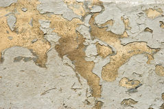 Peeling Paint on Concrete Royalty Free Stock Photography