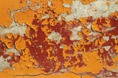 Peeling paint on a concrete surface Royalty Free Stock Photo