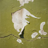 Peeling paint on concrete wall. Exterior of building royalty free stock photo