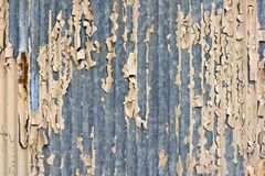 Peeling paint on fence royalty free stock image