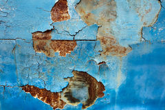 Peeling paint old car door and rusty texture background Stock Photography