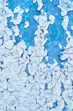 Peeling paint on old concrete - textured background Stock Images