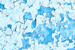 Peeling paint on old concrete - textured background Stock Photography