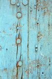 Peeling Paint on Old Wooden Door Royalty Free Stock Photo