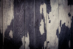 Peeling paint on plank wood texture and background Stock Photos