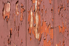 Peeling paint on red barn Royalty Free Stock Photo