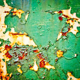 Peeling paint on rusty metal background Royalty Free Stock Photography