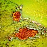 Peeling paint on rusty metal background Stock Photography