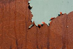 Peeling paint on rusty metal Royalty Free Stock Photography