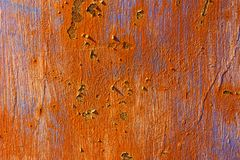 Peeling paint on rusty metal Stock Photos