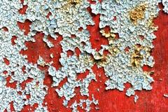 Peeling paint on rusty metal Stock Images