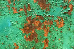 Peeling paint on rusty metal Royalty Free Stock Image