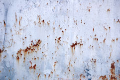Peeling paint on rusty metal texture Stock Image